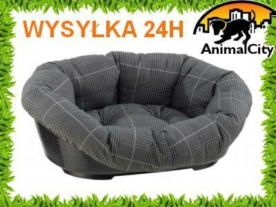 Ferplast Sofa 12 ekskluzywne legowisko dla dużego psa zestaw misa plastikowa + materac-poducha 121cm dwa kolory