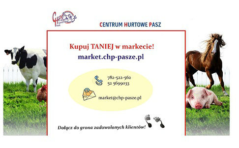 Karmy i przysmaki dla Twojego pupila! www.market.chp-pasze.pl